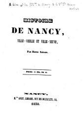 Histoire de Nancy: ville vieille et ville-neuve
