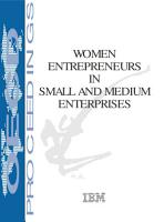 Women Entrepreneurs in Small and Medium Enterprises PDF