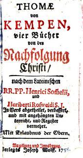 Thomae von Kempen, vier Bücher von der Nachfolgung Christi