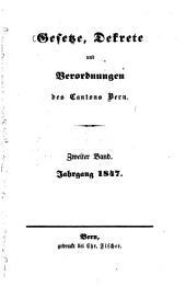 Gesetze, Dekrete und Verordnungen des Kantons Bern: Band 2