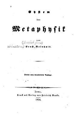 System der Metaphysik PDF