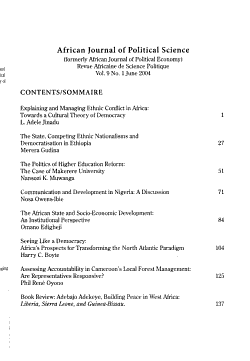 African Journal of Political Science PDF