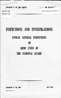 Annual General Inspections of Army Units of the National Guard PDF