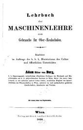 Lehrbuch der Maschinenlehre zum Gebrauche für Ober-Realschulen
