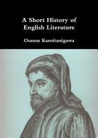 A Short History of English Literature PDF