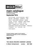 Decca Group Records   Tapes Main Catalogue PDF
