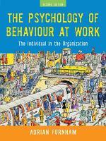 The Psychology of Behaviour at Work PDF