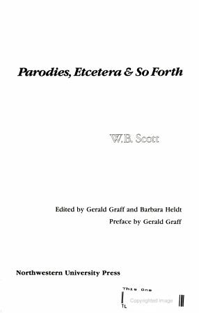 Parodies  Etcetera   So Forth PDF