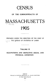 Census of the Commonwealth of Massachusetts, 1905: Volume 3
