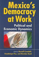 Mexico s Democracy at Work PDF