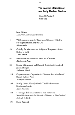 The Journal of Medieval and Renaissance Studies PDF
