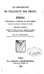 Les historiettes: mémoires pour servir à l'histoire du XVIIe siècle, Volume7