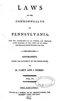 Laws of the Commonwealth of Pennsylvania PDF