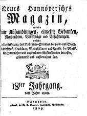 Neues Hannoverisches Magazin: Band 18