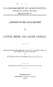 A Revision of the Adult Cestodes of Cattle, Sheep and Allied Animals
