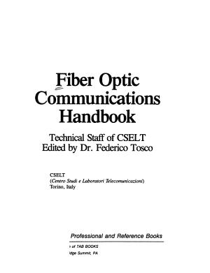 Fiber Optic Communications Handbook PDF