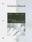 Solutions Manual to accompany Principles of Corporate Finance PDF
