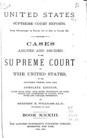 Cases Argued and Decided in the Supreme Court of the United States: Book 33