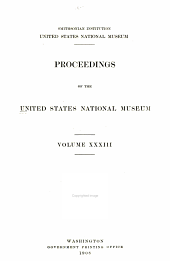 Proceedings of the United States National Museum: Volume 33