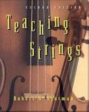 Teaching Strings Book