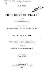 Reports from the Court of Claims Submitted to the House of Representatives