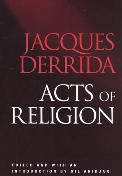 Download Acts of Religion Book