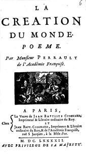 La Creation du Monde: Poeme