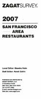 Zagat 2007 San Francisco Bay Area Restaurants PDF