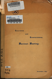 Excursions and entertainments, Mexican meeting: November, 1901