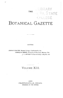 The Botanical Gazette PDF