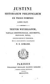 Iustini historiarum philippicarum ex Trogo Pompeio libri XLIV