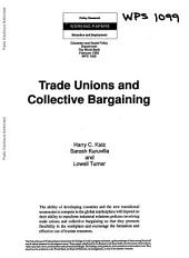 Trade Unions and Collective Bargaining: Issue 1099