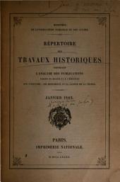 Répertoire des travaux historiques ...: Volume1