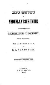 Indisch tijdschrift van het recht: orgaan der Nederlandsch-Indische juristen-vereeniging, Volume 47
