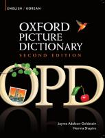 Oxford Picture Dictionary English Korean Edition  Bilingual Dictionary for Korean speaking teenage and adult students of English PDF