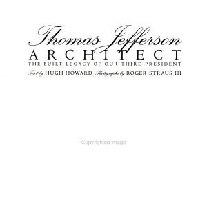 Thomas Jefferson, Architect