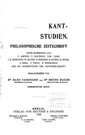 Kant-Studien: Volume 13