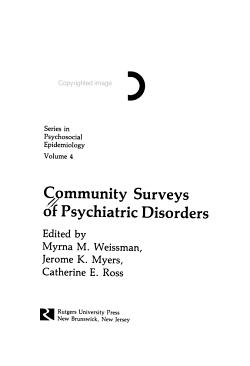 Community Surveys of Psychiatric Disorders PDF
