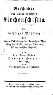 Geschichte des abendländischen Kirchenschisma