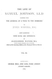The Life of Samuel Johnson, LL.D.: Together with The Journal of a Tour to the Hebrides, Volume 3