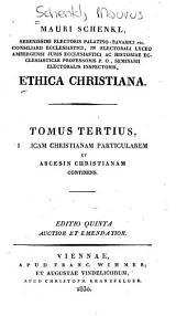 Ethica christiana: Volume 3