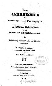 Neue Jahrbücher für Philologie und Pädagogik: Band 22