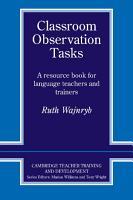 Classroom Observation Tasks PDF