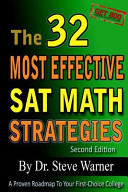 The 32 Most Effective SAT Math Strategies  2nd Edition Book