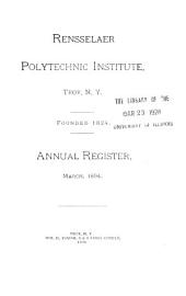 Annual Register of the Rensselaer Polytechnic Institute at the City of Troy