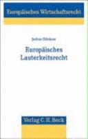 Europ  isches Lauterkeitsrecht PDF