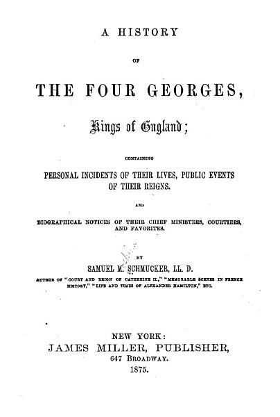 A History Of The Four Georges Kings Of England