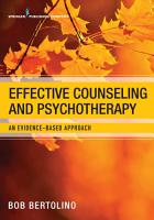 Effective Counseling and Psychotherapy PDF