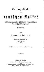 Geschichte des deutschen Volkes seit dem Ausgang des mittelalters: Band 8