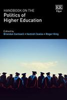 Handbook on the Politics of Higher Education PDF